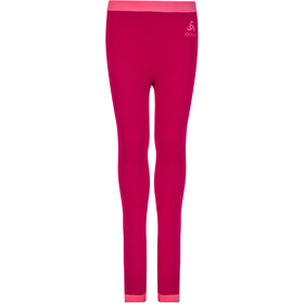 Odlo Performance Warm Pants Kids cerise/fruit dove